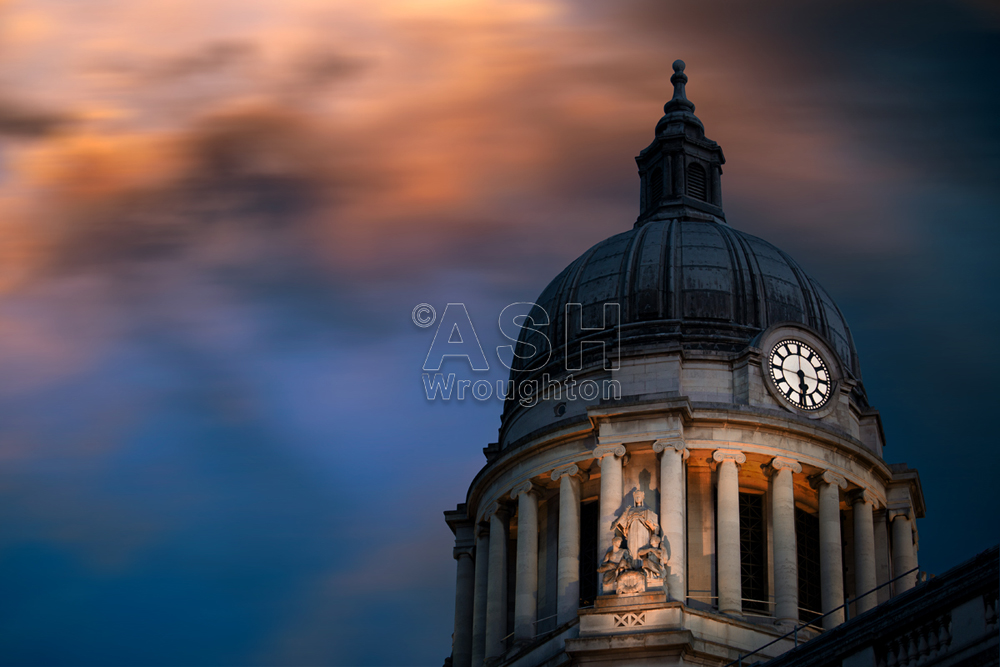 Nottingham Council house with a dramatic sky
